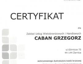certyfikat G0001