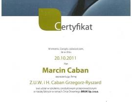 certyfikat G0004