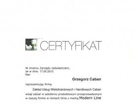 certyfikat G0002