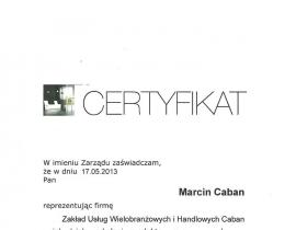 certyfikat G0003