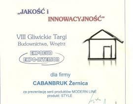Caban_Bruk_Nagroda w-kategorii_produkt_Expobud2012